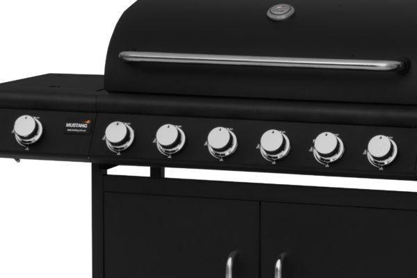 Mustang gas grill Clarksville bedieningspaneel