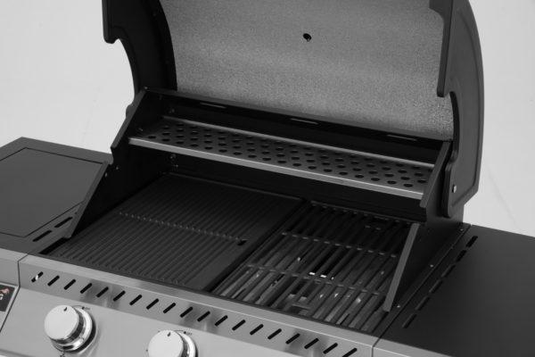 Mustang RVS gas grill Knoxville complete grillruimte zijaanzicht