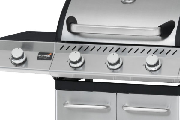 Mustang RVS gas grill Knoxville bedieningspaneel