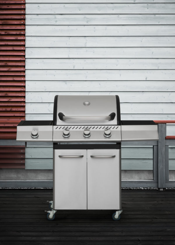 Mustang RVS gas grill Knoxville met 4 branders