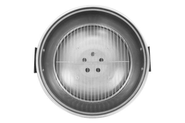 rvs kogel houtskool grill mustang boven aanzicht