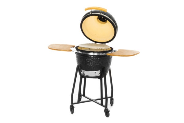 mustang 18 inch kamado houtskool grill vooraanzicht