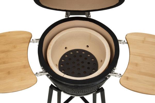 mustang 18 inch kamado houtskool grill binnenkant
