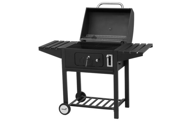houtskool grill mustang tango zwart open