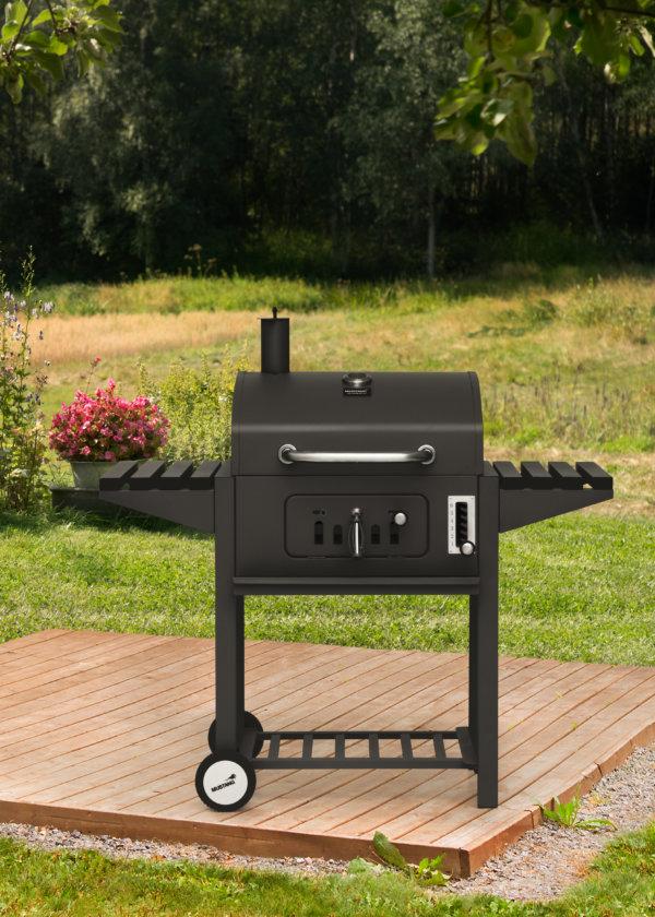 houtskool grill mustang tango zwart vooraanzicht