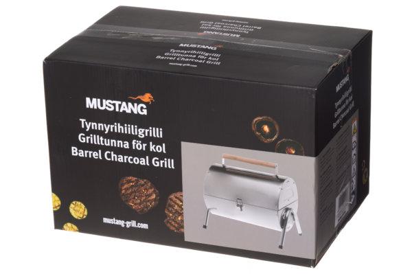 mustang houtskool rvs grill koffer verpakking