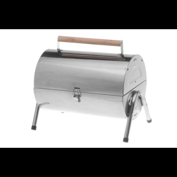 Mustang houtskool grill RVS Koffer zijaanzicht