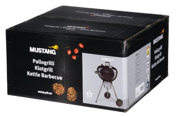 Mustang houtskool grill Cobolt kogel bbq verpakking