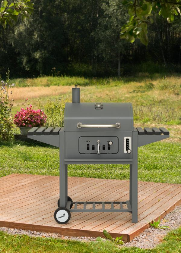 houtskool grill mustang tango grijs vooraanzicht
