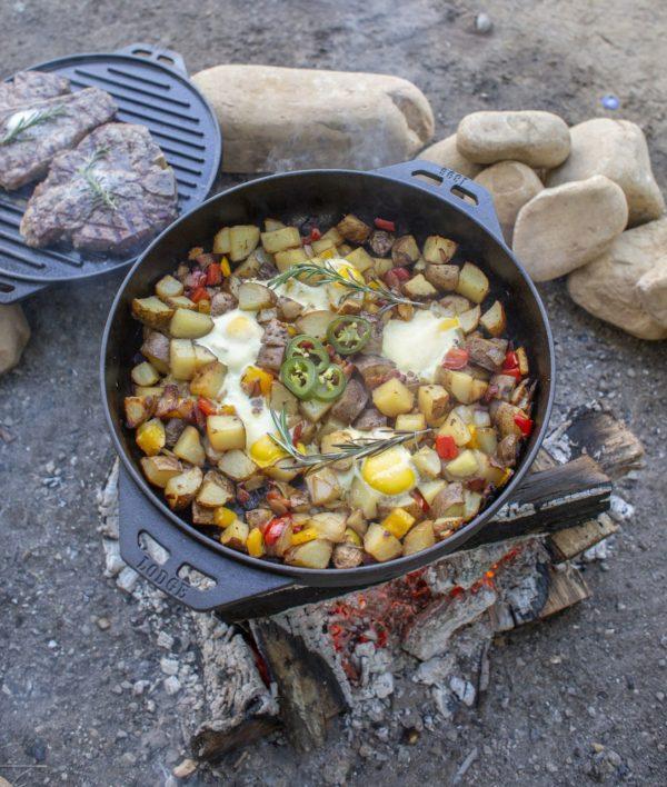 lodge cook it all gietijzeren allround pan