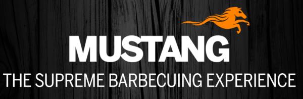 mustang logo wood