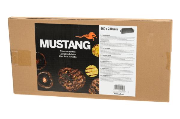 Mustang dubbelzijdige gietijzeren grillplaat 46 x 23 cm verpakking