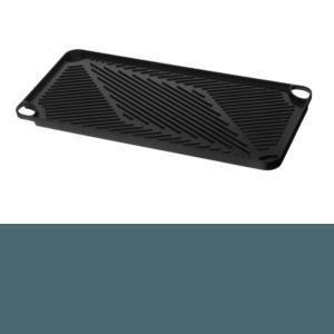 Aluminium grillplaat ribbel zijde